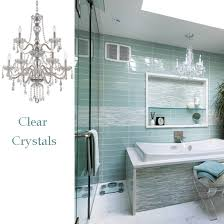 Modern Chandelier Over Bathtub by 10 Bathroom Lighting Ideas With Crystal Chandeliers Lamps Plus