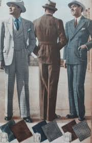 1930s Mens Solid Suits