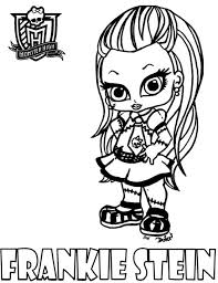 Frankie Stein Monster High Coloring Pages Printable