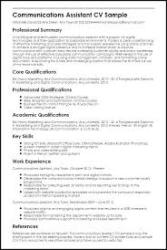 Communication Skills Resume Sample Communications Description