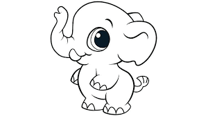 Cute Coloring Pages Printable Easy Elephant Color Page Free For