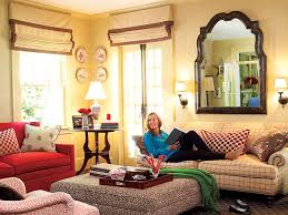 Southern Living Family Rooms by Grass Cloth Wallpaper Lends Warm Texture To This Charlotte North