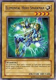 amazon com yu gi oh elemental hero sparkman ysdj en008
