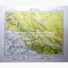 India Lahore Statistical And General Map 1883 Maps KittyPrint 1800s Contour Relief East