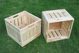Boxes Wooden Milk Crate Home Design 7