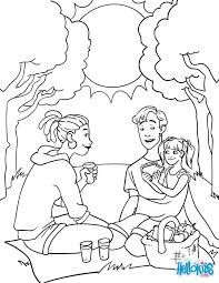 Cute Family Picnic Coloring Page Perfect Sheet For Kids More Content On Hellokids