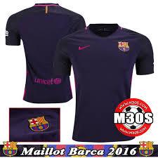 m30s maillot de barcelone foot exterieur 2016 17 pourpre