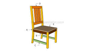 kitchen chair plans howtospecialist how to build step by step