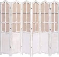 unfadememory raumteiler paravent holzrahmen vintage stil paulownia holz wohnzimmer raumtrenner dekoration schlafzimmer sichtschutz trennwand 210 x