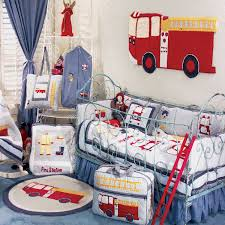 100 Fire Truck Bedding Blue White And Red Engine 6 Piece Crib Set Grandma