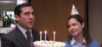 """The face Andy makes when Michael """"only sings the high harmony to Happy Birthday"""""""
