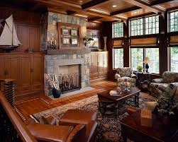Regency Fireplace For A Traditional Living Room With And Saratoga Lake House By Wallant