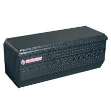 100 Truck Tool Boxes Black Diamond Plate WEATHER GUARD 47in X 2025in X 1925in Aluminum Universal