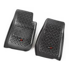 Rugged Ridge Floor Liners by Rugged Ridge 12920 03 Floor Liners Front Black 07 15 Jeep