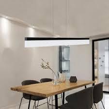 für office home schlafzimmer esszimmer moderne längliche rechteckige linie form hängen kronleuchter le led licht mit langen streifen