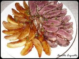 recette de magret de canard aux pommes et aux poires