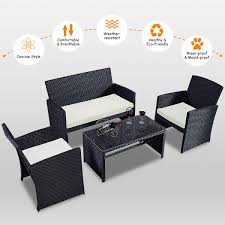 Costway: Costway 4 PCS Outdoor Rattan Wicker Furniure Set Sofa ... Amazoncom Leaptime Patio Fniture Rattan Couch 5piece Deck Sofa Hanover Outdoor Metropolitan Wicker Frame Sunnydaze Decor Port Antonio Gray 4piece Metal Sectional Chaise Lounge Lounges Arrow Up Lyndee Blue White Striped Chair Goodglance And 2 Ding Room Outside Pe Hcom Dark Grey Accent Chairs Comfortable Sunbrella Cushions For Upper Outdoor Pillow Covers Throw Pillows Royal Etsy 5pcs Sofa Set Brown Cushion 7078 Exterior Cozy Wooden Material Lowes Navy Blue Patio Chair Cushion Cushions Navy