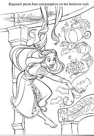 Rapunzel Painting Room Walls Coloring Pages