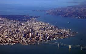 Chautauqua Desk Larkin Soap by Retiring Guy Aerial View Of The San Francisco Bay Area Postcard