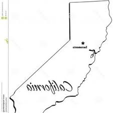 Stock Photography State California Outline Image