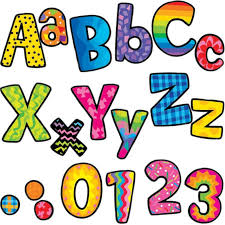 Patterned Pop Out 4in Letters