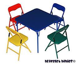amazon com children s folding table folding chairs furniture