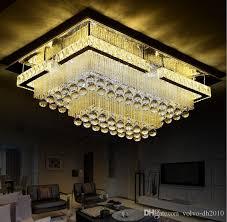 großhandel moderne led wohnzimmer kristall deckenleuchte beleuchtung rechteckigen dach absaugleuchten einfache schlafzimmer esszimmer beleuchtung