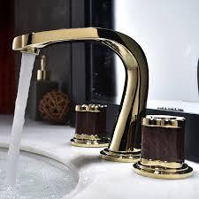 badezimmer verbreitet becken armaturen soild messing waschbecken mischbatterien cold toilette kran luxus 2 griff 3 loch badewanne armaturen