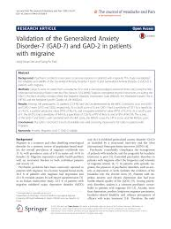 100 Gad 2 PDF Validation Of The Generalized Anxiety Disorder7 GAD7