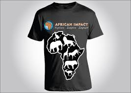bold playful t shirt design for african impact by pb design