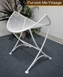Salterini Iron Patio Furniture by Mid Century Modern Retro Salterini Mesh Wrought Iron Stool Foot Rest