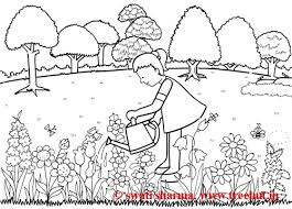 Love Nature Art Therapy Idea Coloring Page