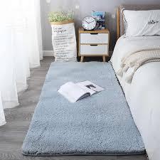 nordic flauschigen teppich für schlafzimmer wohnzimmer große größe plüsch anti slip weichen tür matte weiß rosa rot kinder teppiche für zimmer