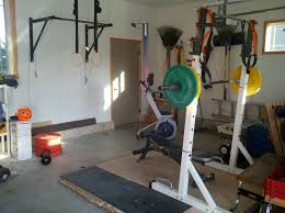 Simple Homemade Gym Equipment Ideas With Weight Lifting Also White Painted Wall In Barn Space