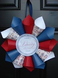 Festive July 4th DIY Wreaths Easy Simple Inspired Paper Cones