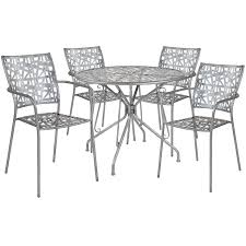 Flash Furniture Agostina Contemporary Silver Round 5pc Outdoor Dining Set Ding Room Circular 10 Gorgeous Black Tables For Your Modern Pulaski Fniture The Art Of 7 Piece Round Table And Best Design Decoration Channel Really Inspiring Creative Idea House By John Lewis Enzo 2 Seater Glass Marble Kitchen Sets For 6 Solid Wood Island Mahogany Zef Set Kitchens Sink Iconic 5 Deco Double Xback Antique Grey Stone 45 X 63 Extra Large White Corian Top Chairs 278 Rooms With Plants Minimalists Living