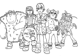 All Kids From How To Train Your Dragon Coloring Pages For Printable Free