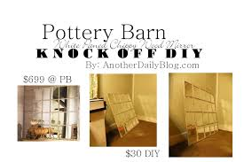 Another Daily Blog: $699 Pottery Barn White Paned Mirror DIY Knock ... Pb Inspired Trunk Bedside Table Makeover Girl In The Garage Darby Entryway Bench Pottery Barn Samantha Diy 3d Wall Art This Is Our Bliss Best 25 Barn Inspired Ideas On Pinterest Woman Real Lifethe Of Everyday Kitchen Island By Diy Kitchen Island Coffe Fresh Coffee Home Decoration Clock Noel Sign Knock Off Christmas Mirror Knockoff Project