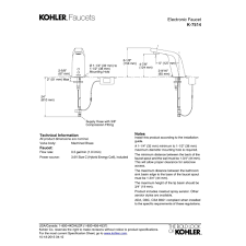 Kohler Faucet Aerator Size by Kohler K 7514 Cp Universal Polished Chrome Electronic Bathroom