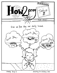 How 2 Pray Coloring Page From Ministry To Children