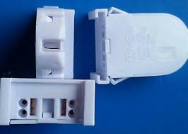 Non Shunted Lamp Holders Leviton by 8 Of Leviton 13661 Snp Non Shunted Snap In T8 Led Tombstone Lamp