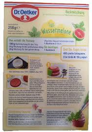 dr oetker backmischung typ wassermelone