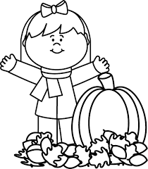 Fall clipart black and white 1