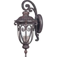 nuvo 60 2062 3 light large outdoor wall lantern arm