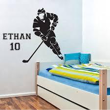 eishockeyspieler mit wunschnamen zum selbst gestalten wandaufkleber wandtattoo wd 0749