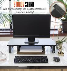 Monitor Shelf For Desk by Amazon Com Stand Steady Jumbo Monitor Stand Desk Shelf With 4