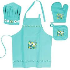 tablier de cuisine enfant lot enfant tablier toque gant manique cho achat vente