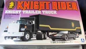 Knight Rider Truck + Trailer - Aoshima | Car-model-kit.com