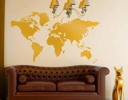 wandtattoo no 191 weltkarte gold wunschfarbe wandaufkleber