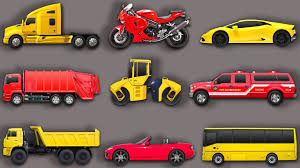 Cars And Trucks. Learn Street Vehicles For Kids: Bus, Fire Truck ...